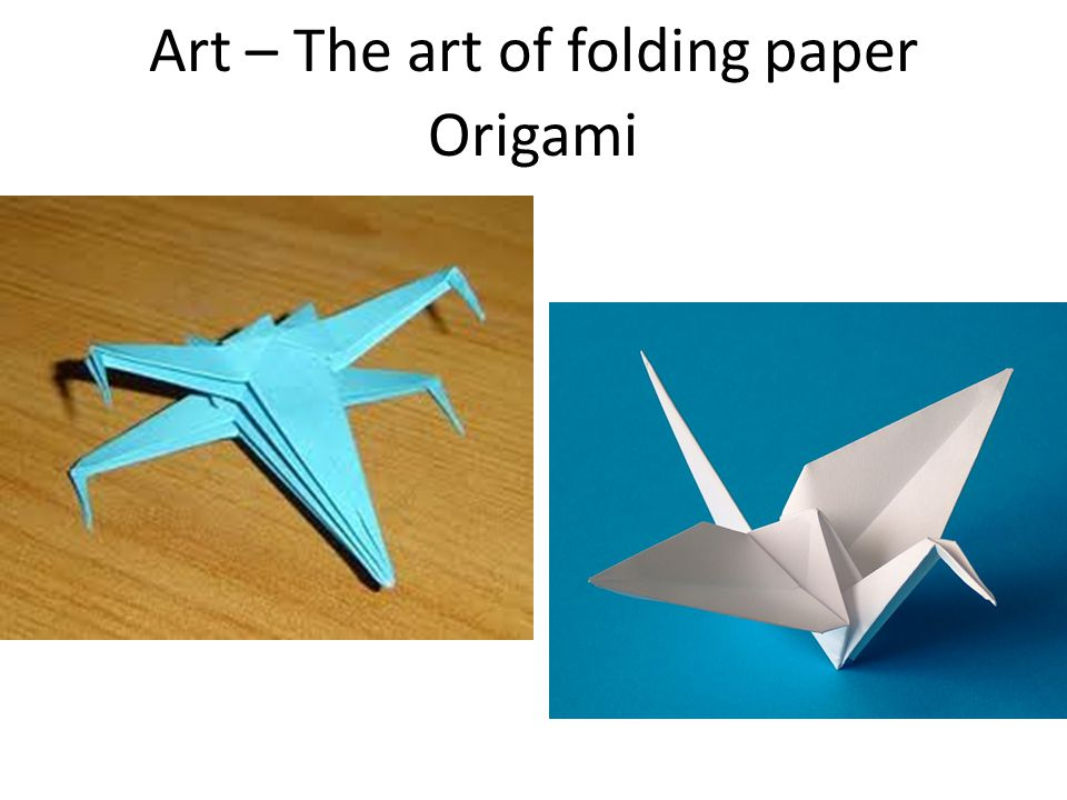 Art – The art of folding paper