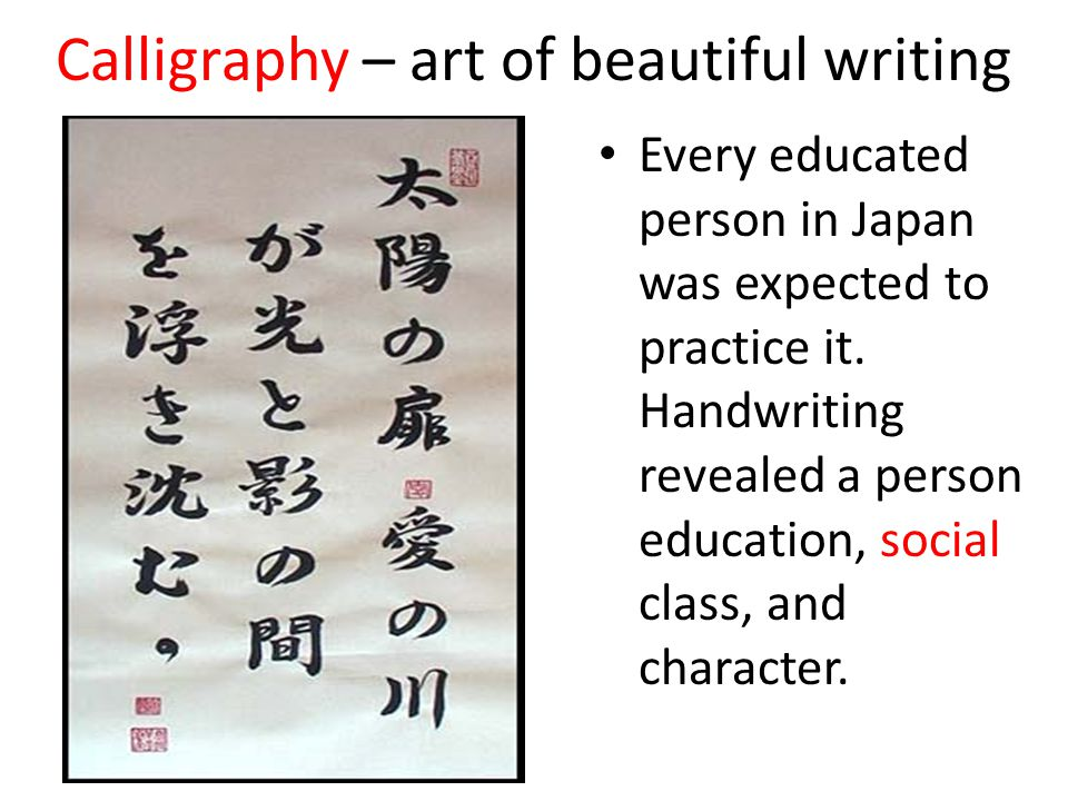 Calligraphy – art of beautiful writing