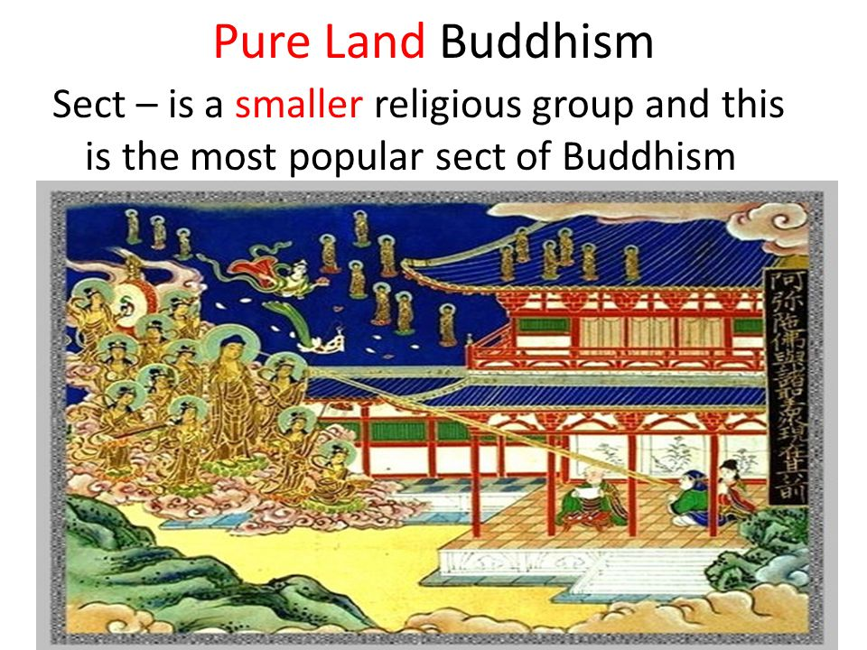 Pure Land Buddhism Sect – is a smaller religious group and this is the most popular sect of Buddhism.