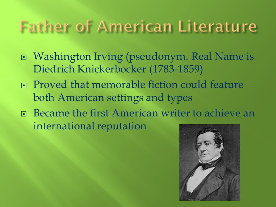 Father of American Literature
