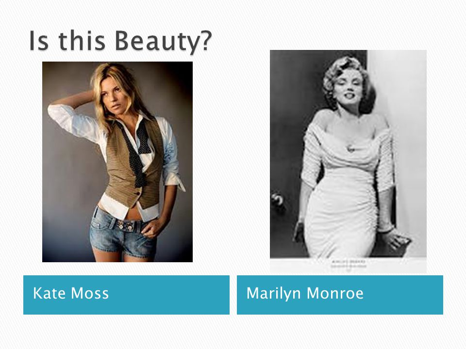 Is this Beauty Kate Moss Marilyn Monroe