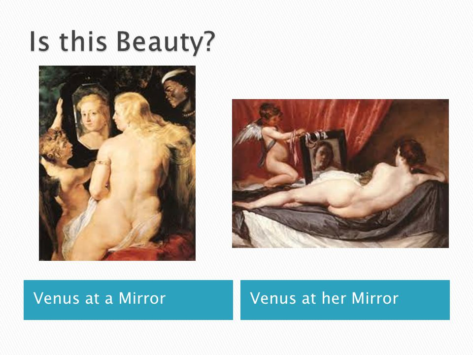 Is this Beauty Venus at a Mirror Venus at her Mirror