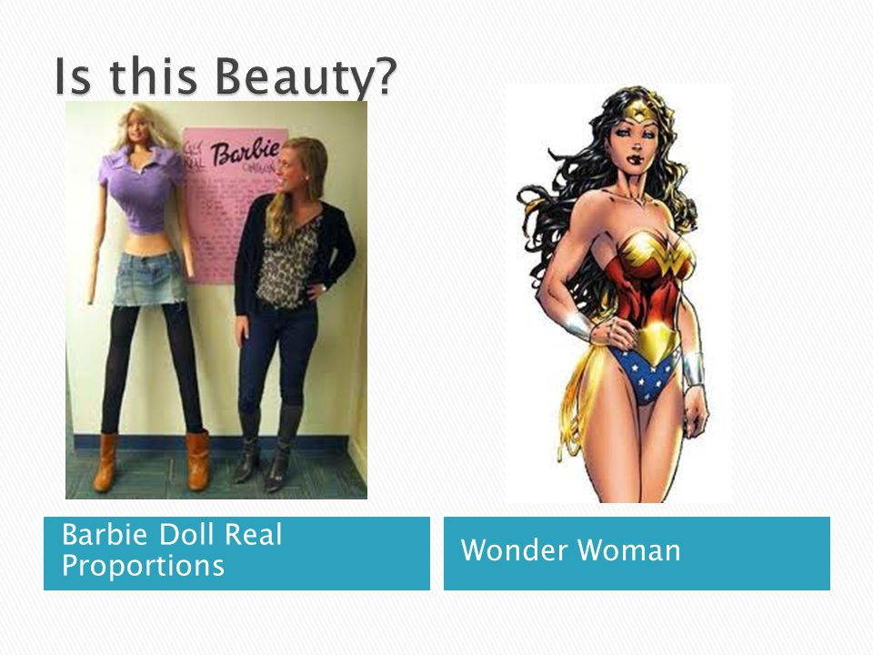 Is this Beauty Barbie Doll Real Proportions Wonder Woman