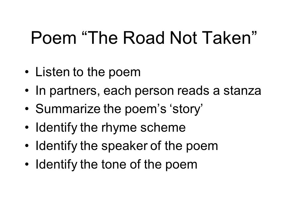 Poem The Road Not Taken
