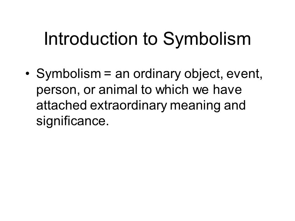 Introduction to Symbolism