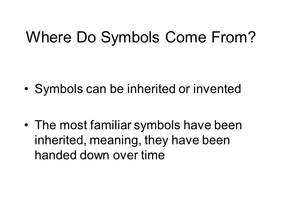 Where Do Symbols Come From