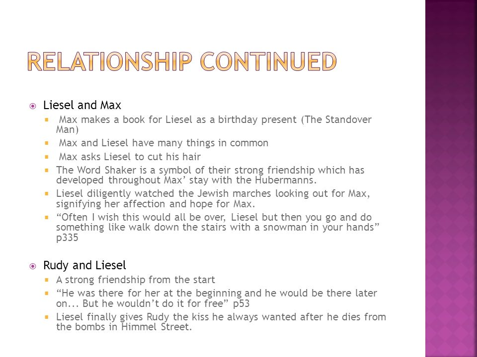 Relationship continued