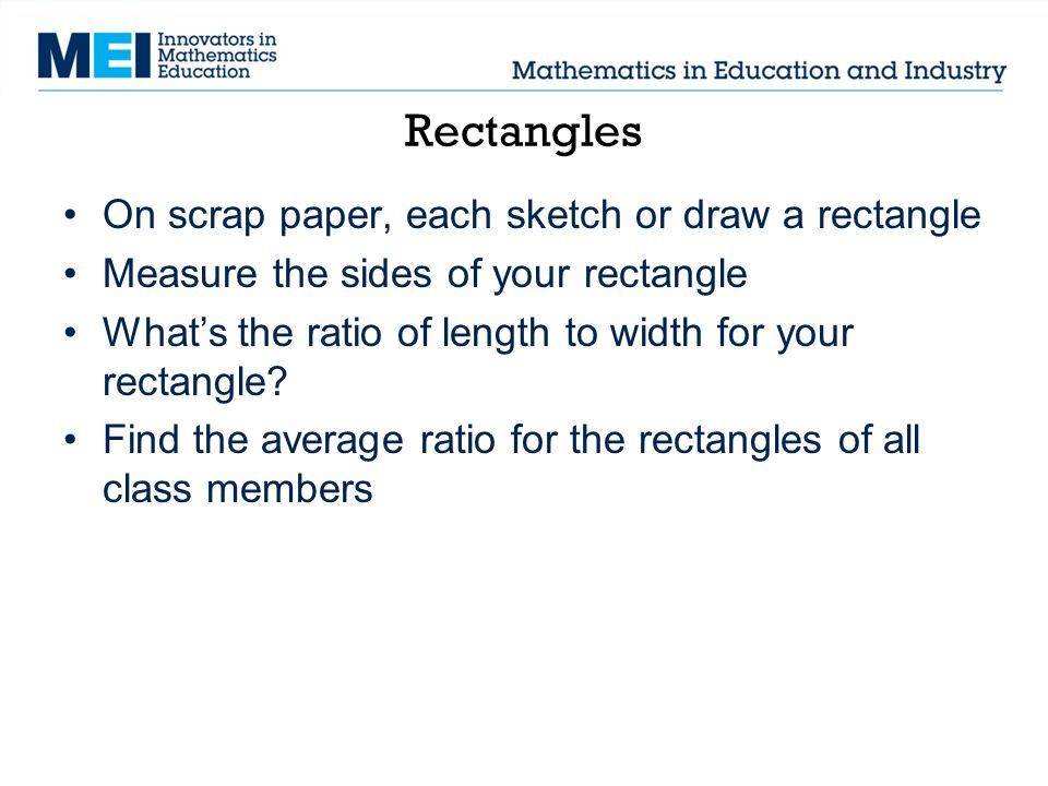 how to find similarity ratio of rectangles