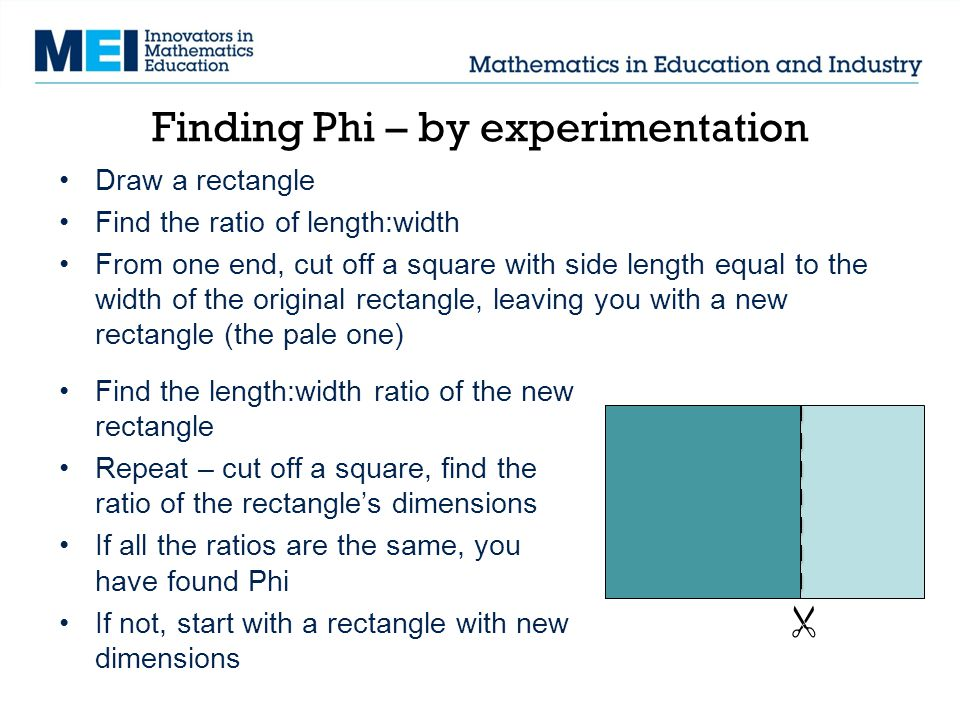 Finding Phi – by experimentation