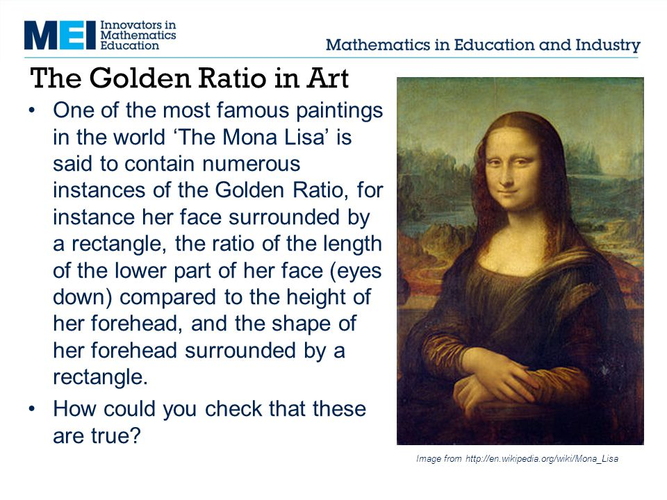 The Golden Ratio in Art