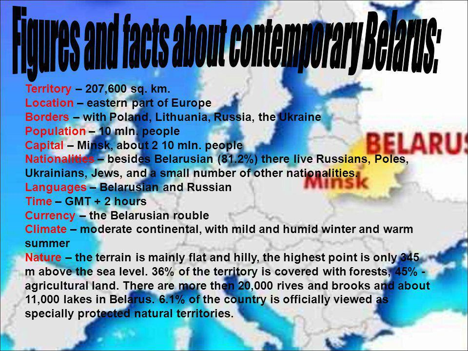 Figures and facts about contemporary Belarus: