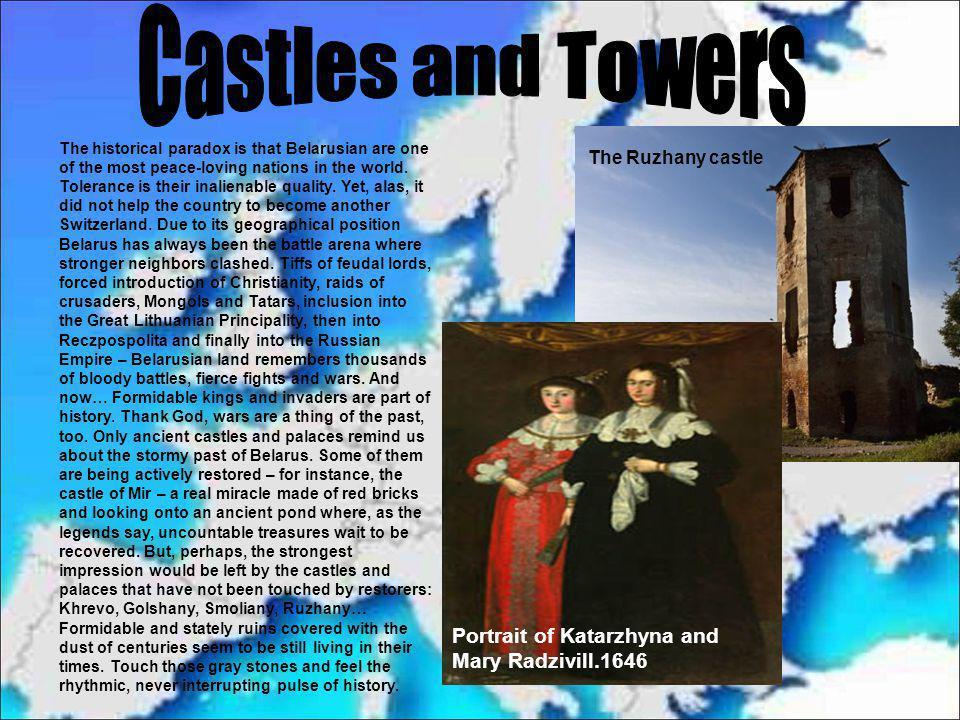 Castles and Towers Portrait of Katarzhyna and Mary Radzivill.1646