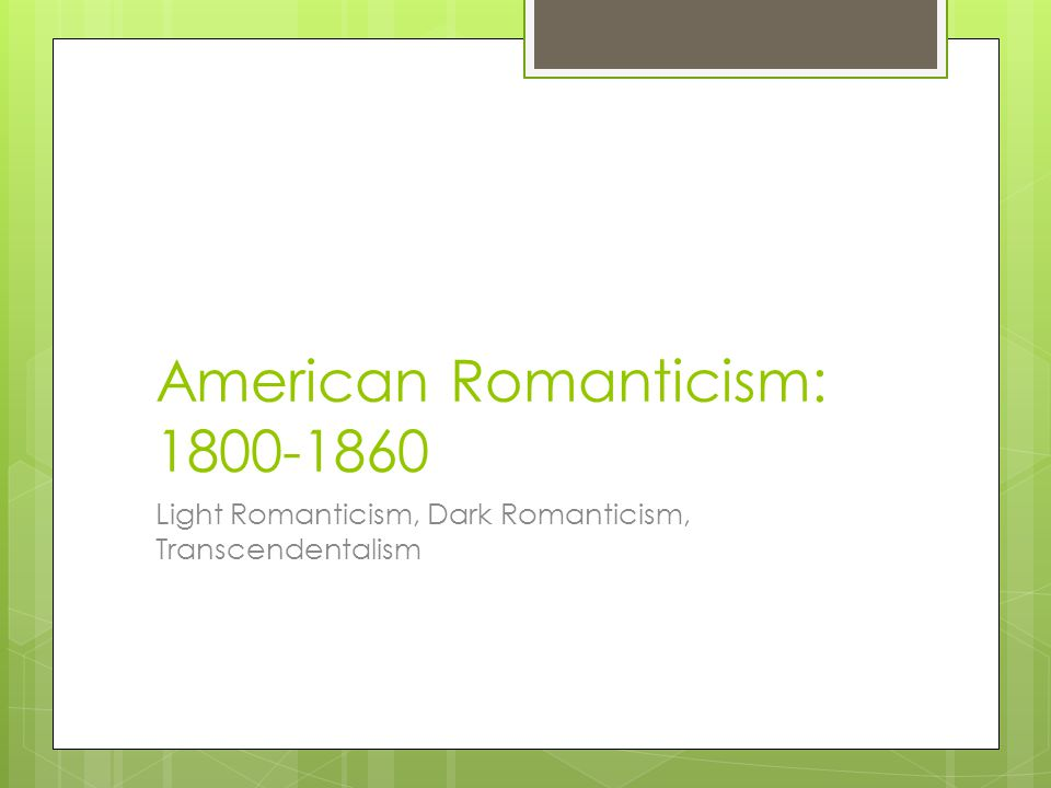 essays on american romanticism