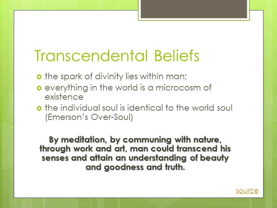 Transcendental Beliefs