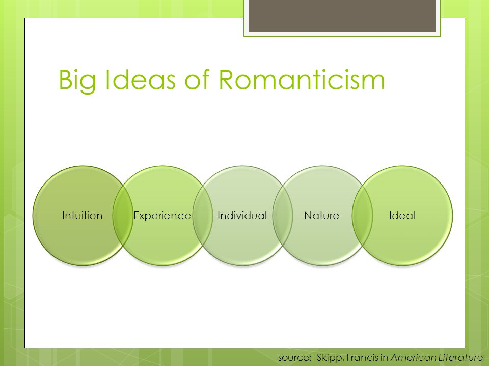 Big Ideas of Romanticism