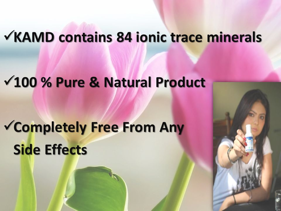KAMD contains 84 ionic trace minerals