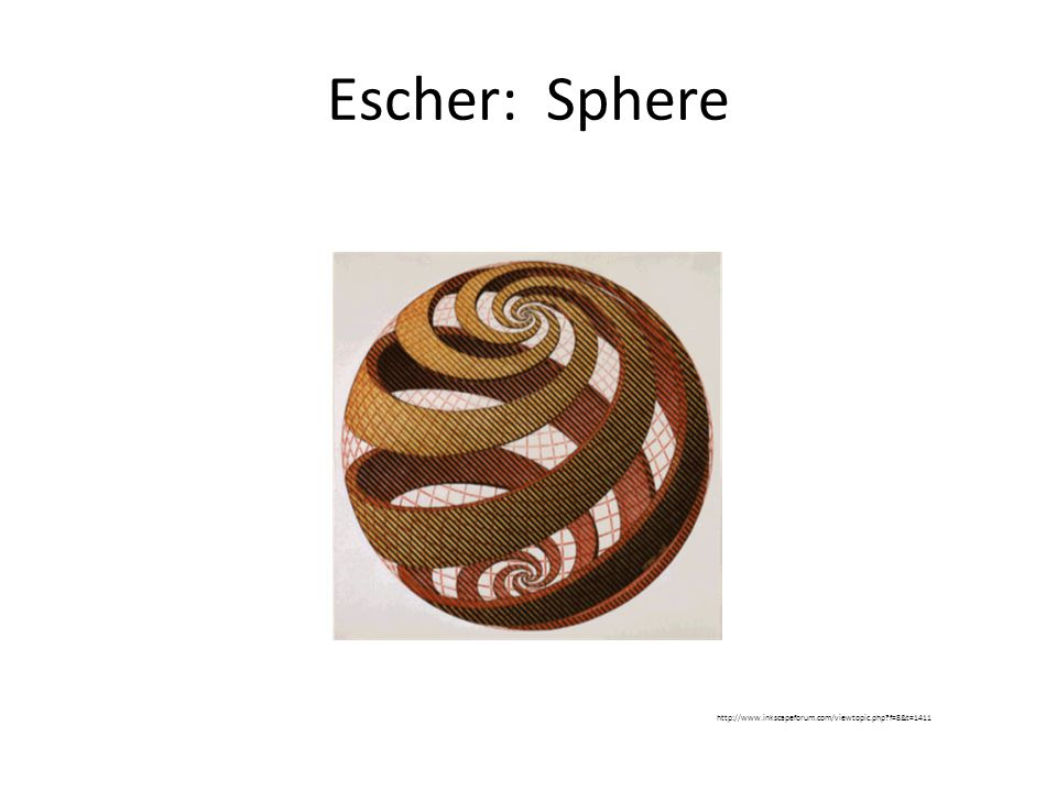 Escher: Sphere http://www.inkscapeforum.com/viewtopic.php f=8&t=1411