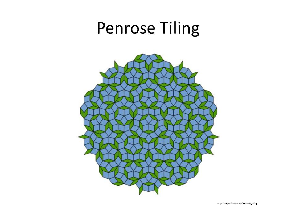 Penrose Tiling http://wapedia.mobi/en/Penrose_tiling