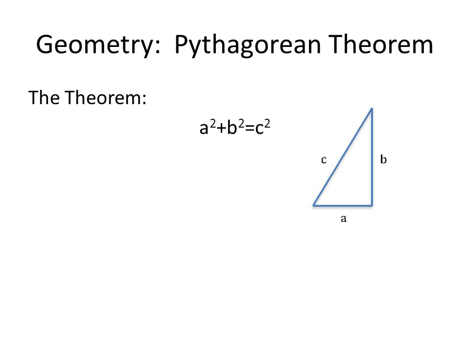 Geometry: Pythagorean Theorem