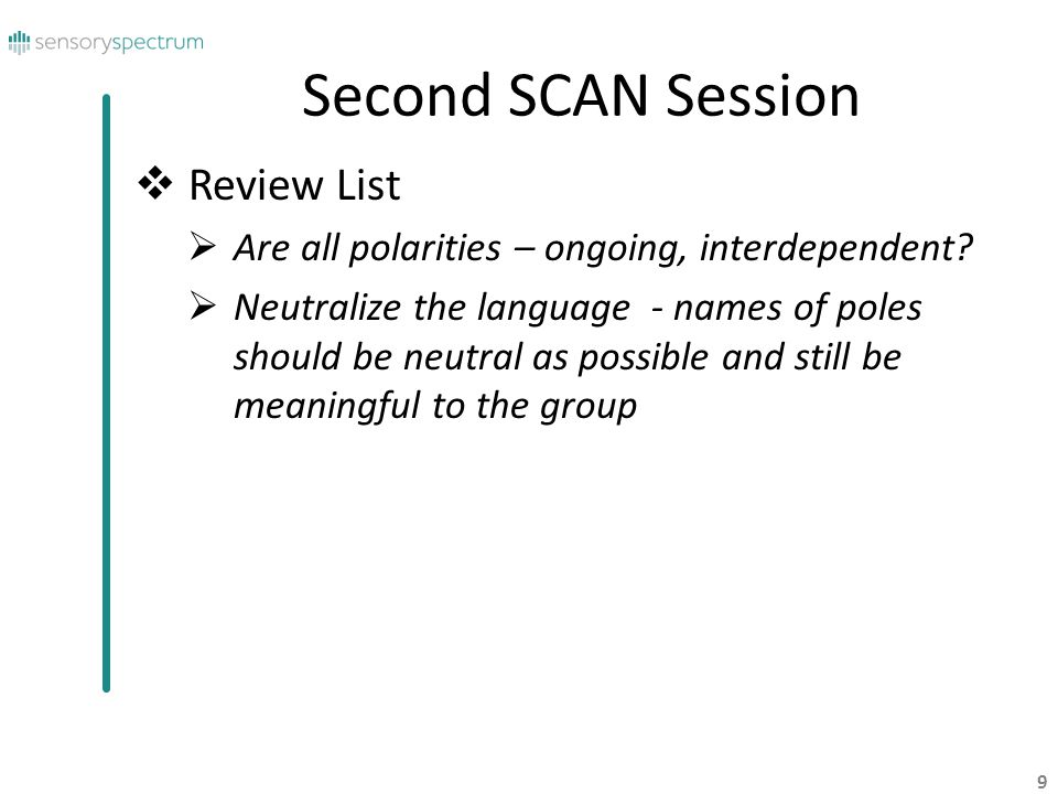 Second SCAN Session Review List