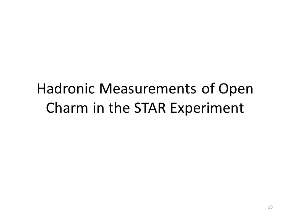 Hadronic Measurements of Open Charm in the STAR Experiment