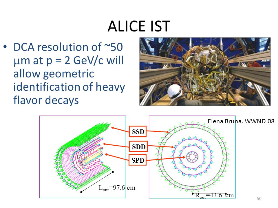 ALICE IST DCA resolution of ~50 mm at p = 2 GeV/c will allow geometric identification of heavy flavor decays.