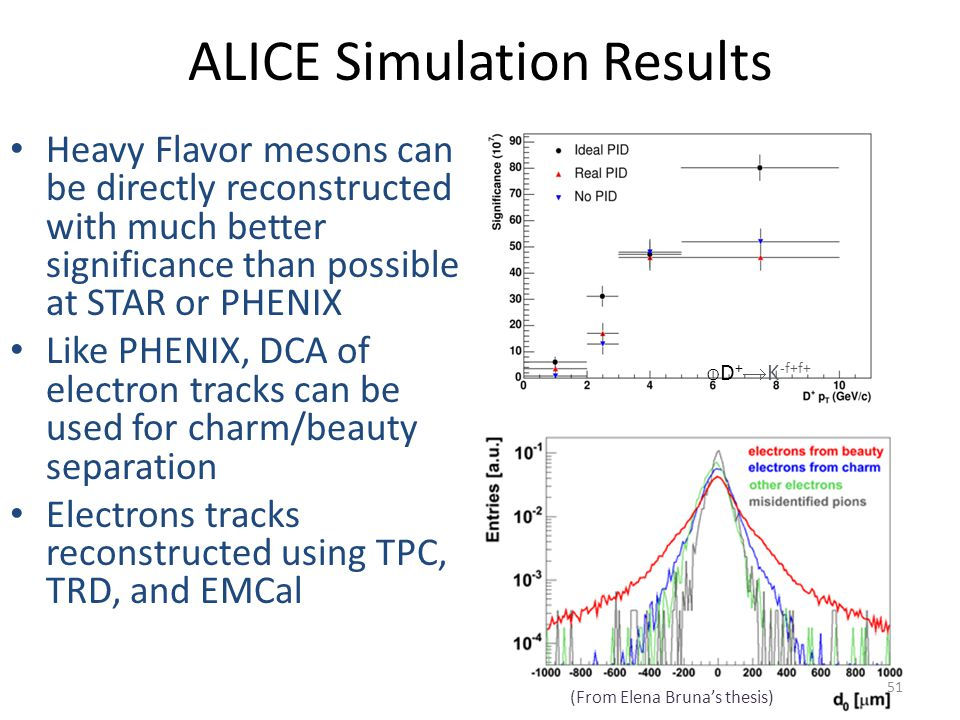 ALICE Simulation Results