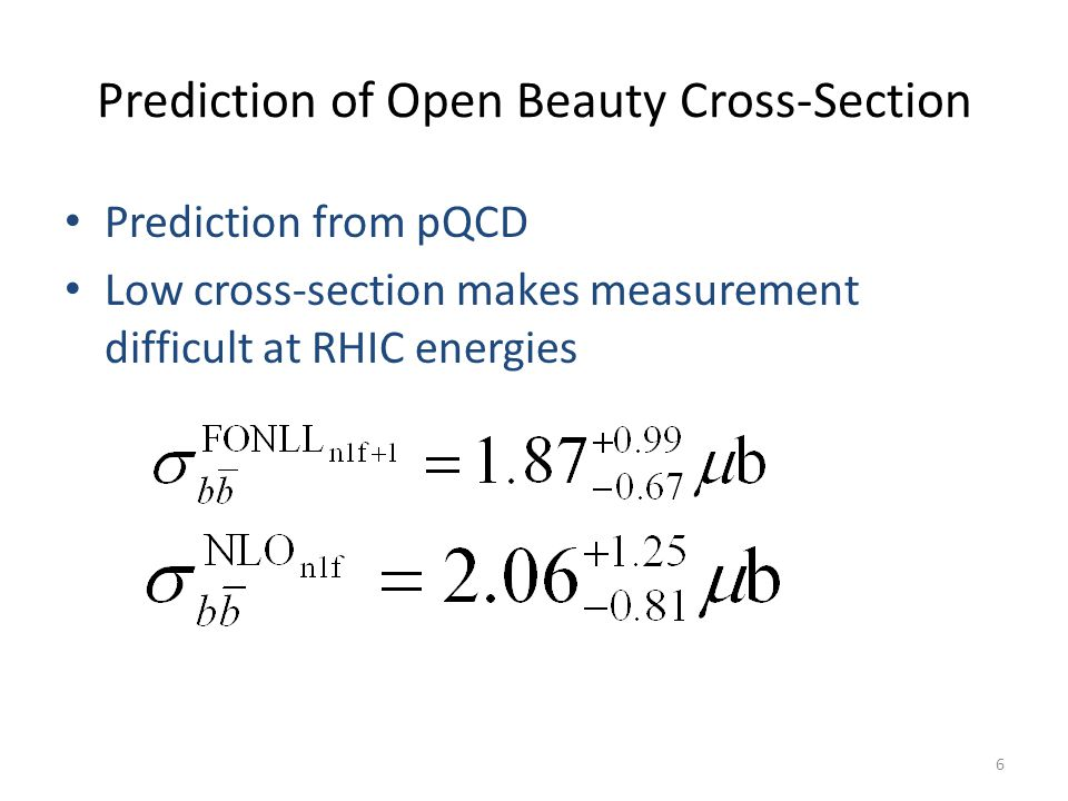Prediction of Open Beauty Cross-Section