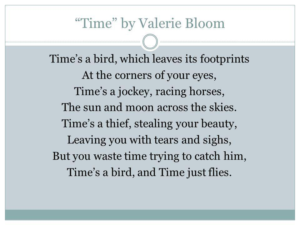 Time by Valerie Bloom