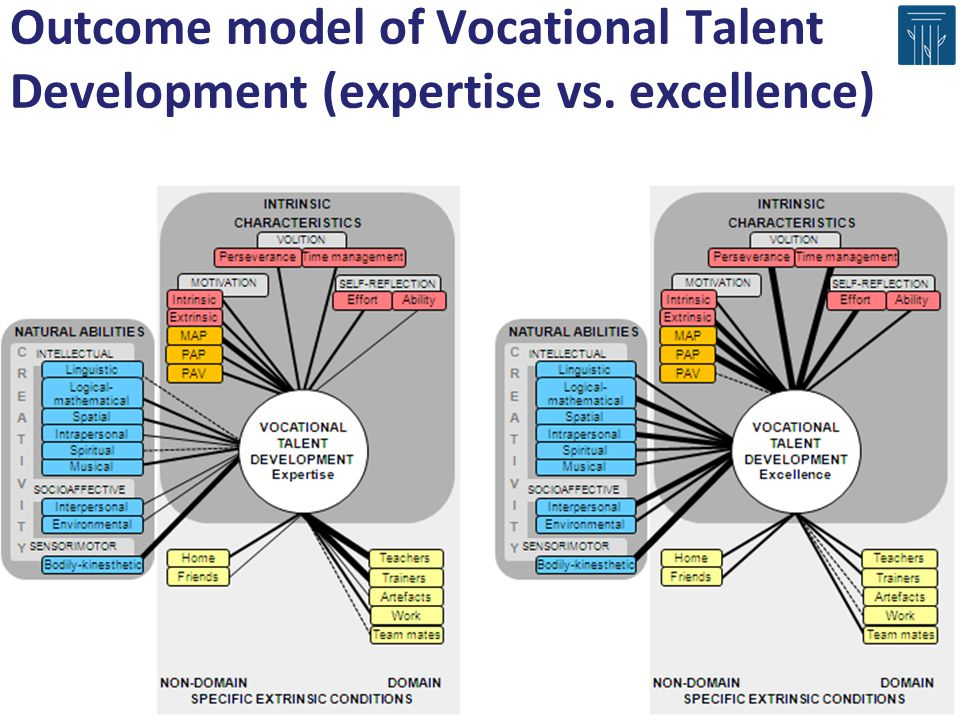 Outcome model of Vocational Talent Development (expertise vs