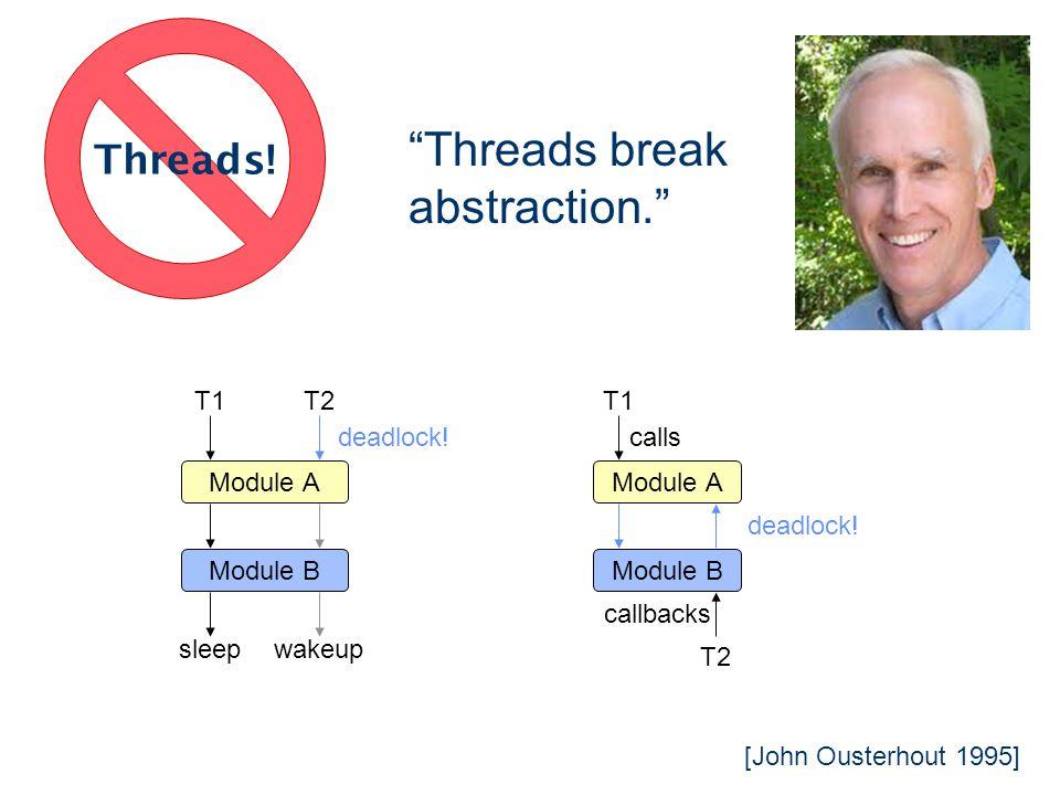 Threads break abstraction.