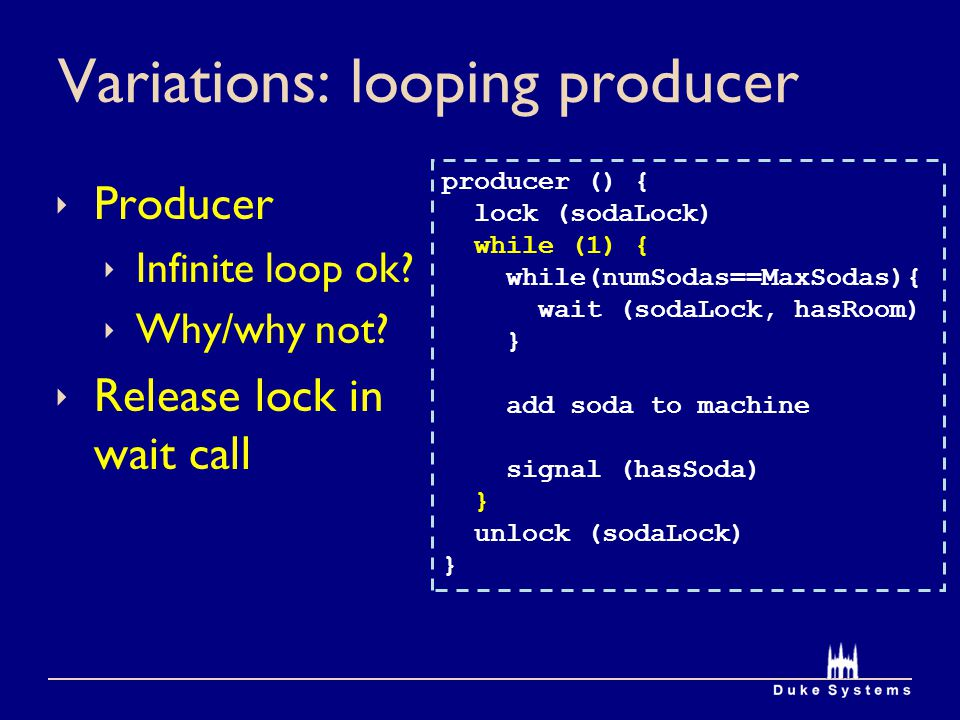 Variations: looping producer