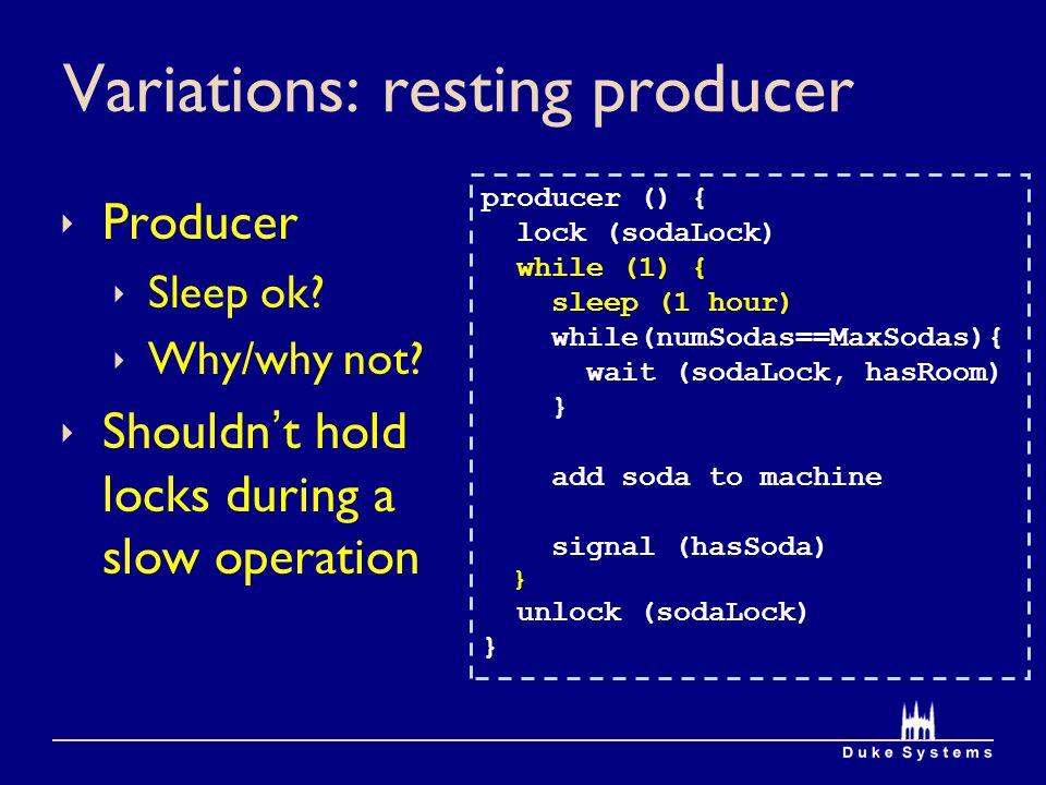 Variations: resting producer