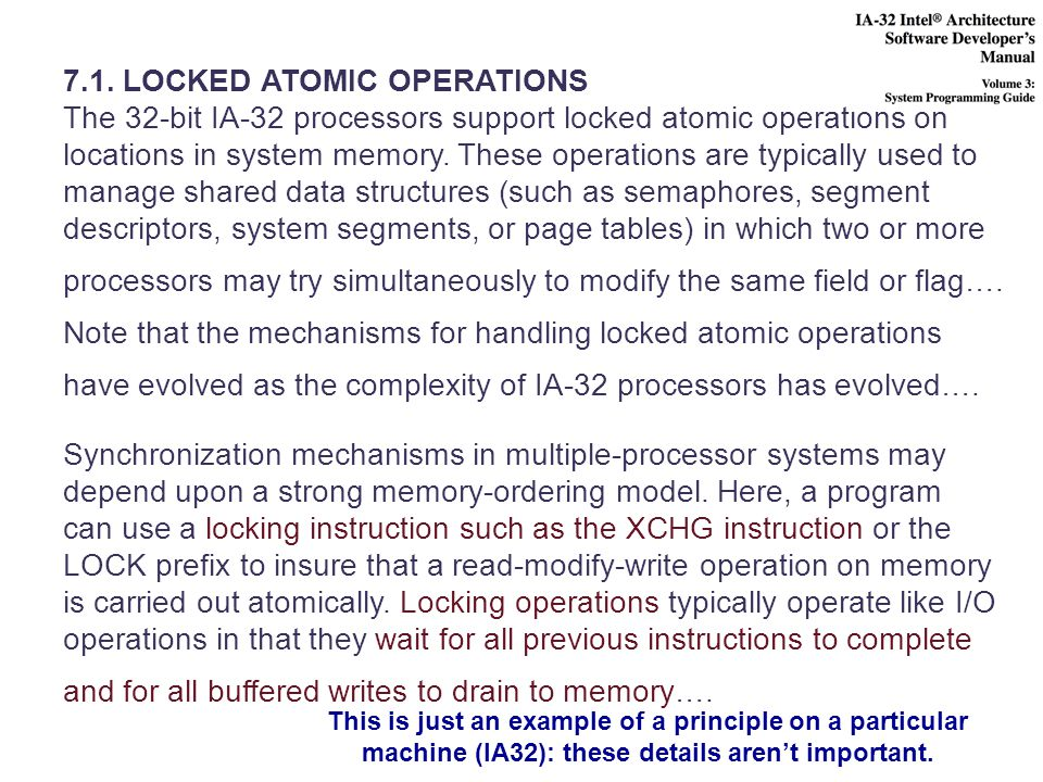 7.1. LOCKED ATOMIC OPERATIONS