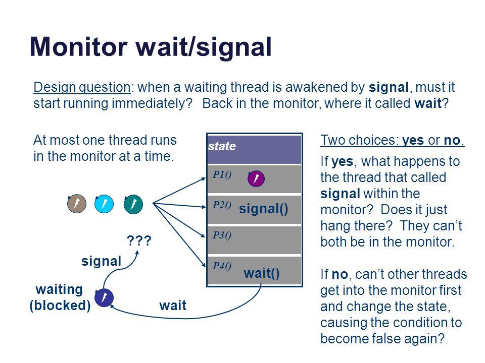 Monitor wait/signal