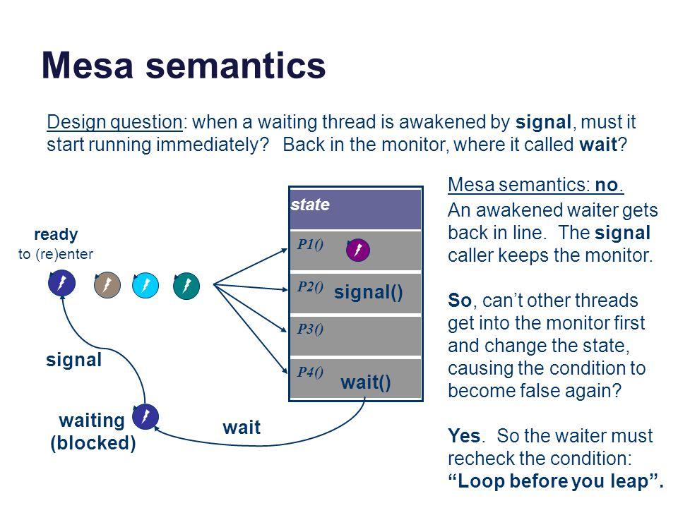 Mesa semantics