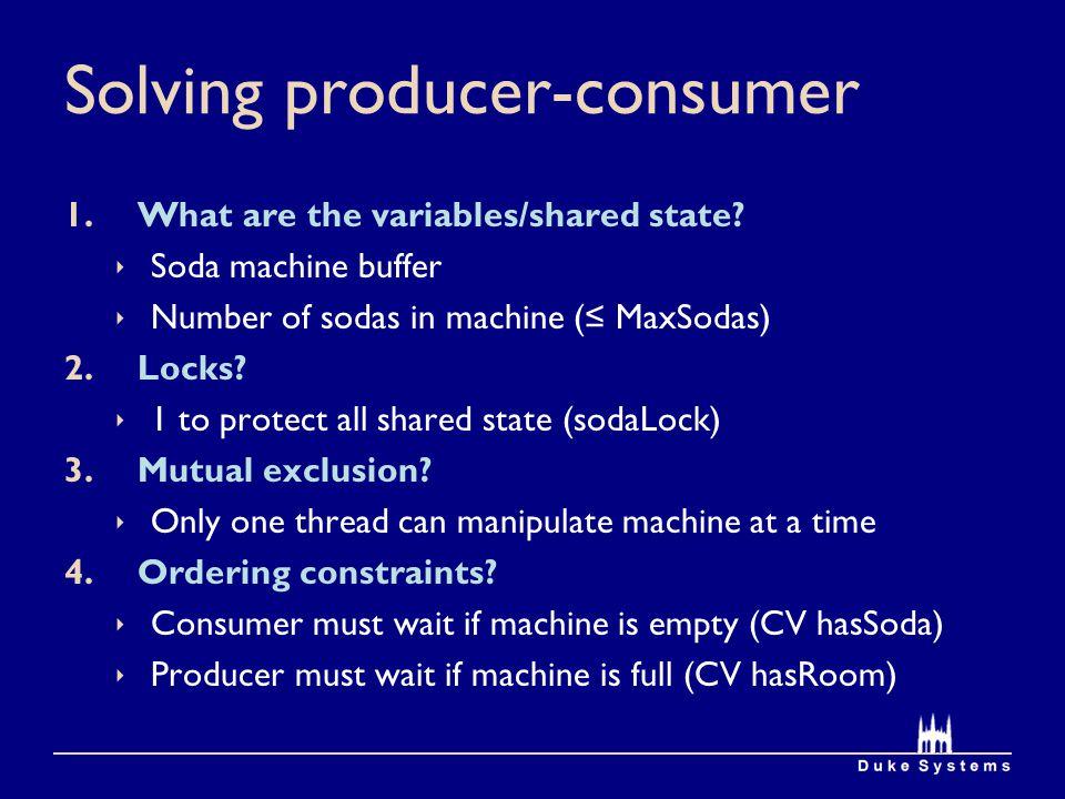 Solving producer-consumer