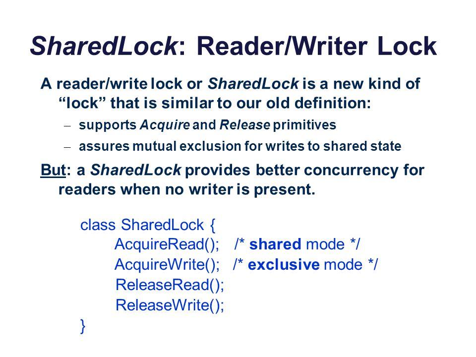 SharedLock: Reader/Writer Lock