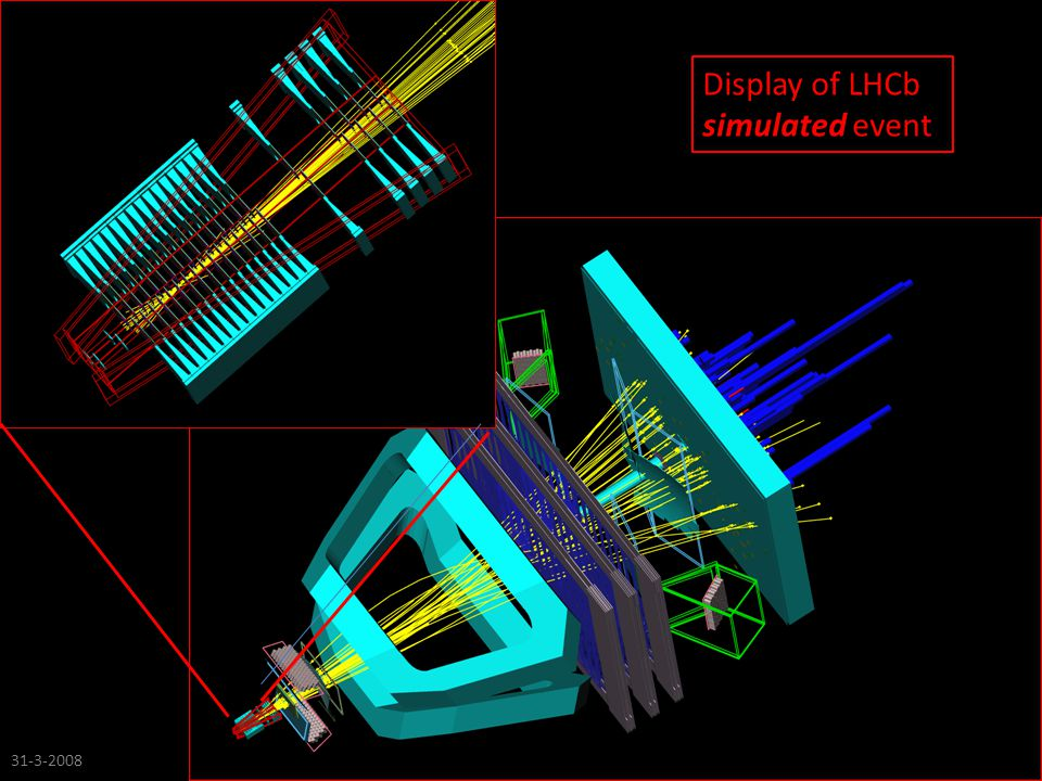 Display of LHCb simulated event