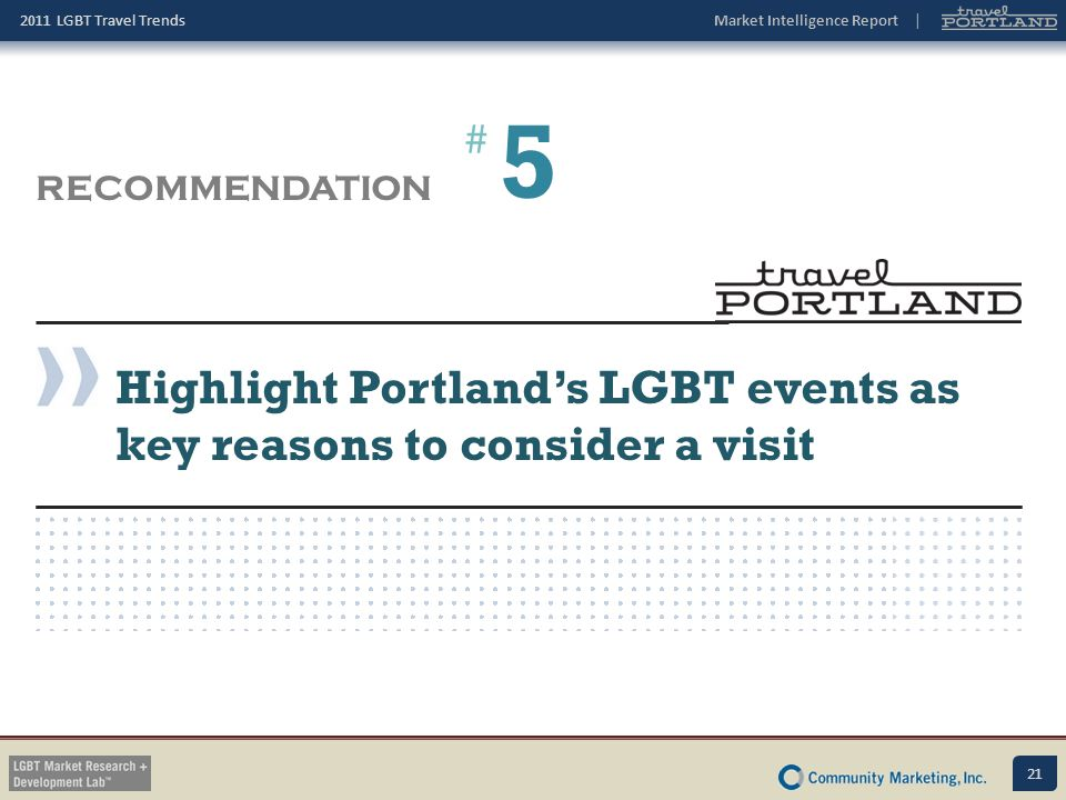 5 Highlight Portland's LGBT events as key reasons to consider a visit
