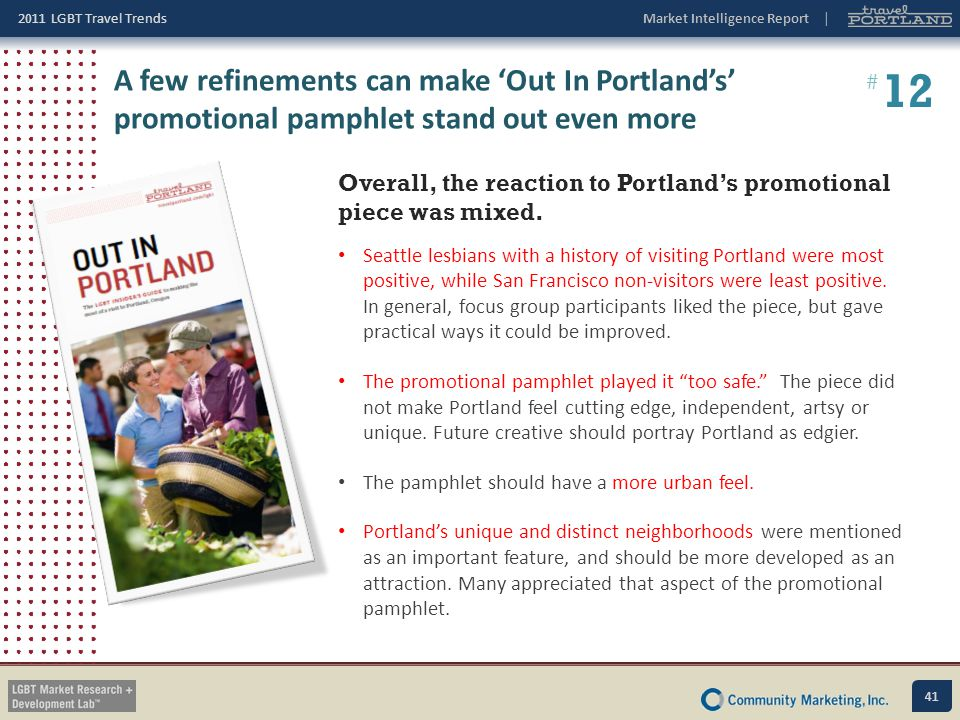 A few refinements can make 'Out In Portland's' promotional pamphlet stand out even more