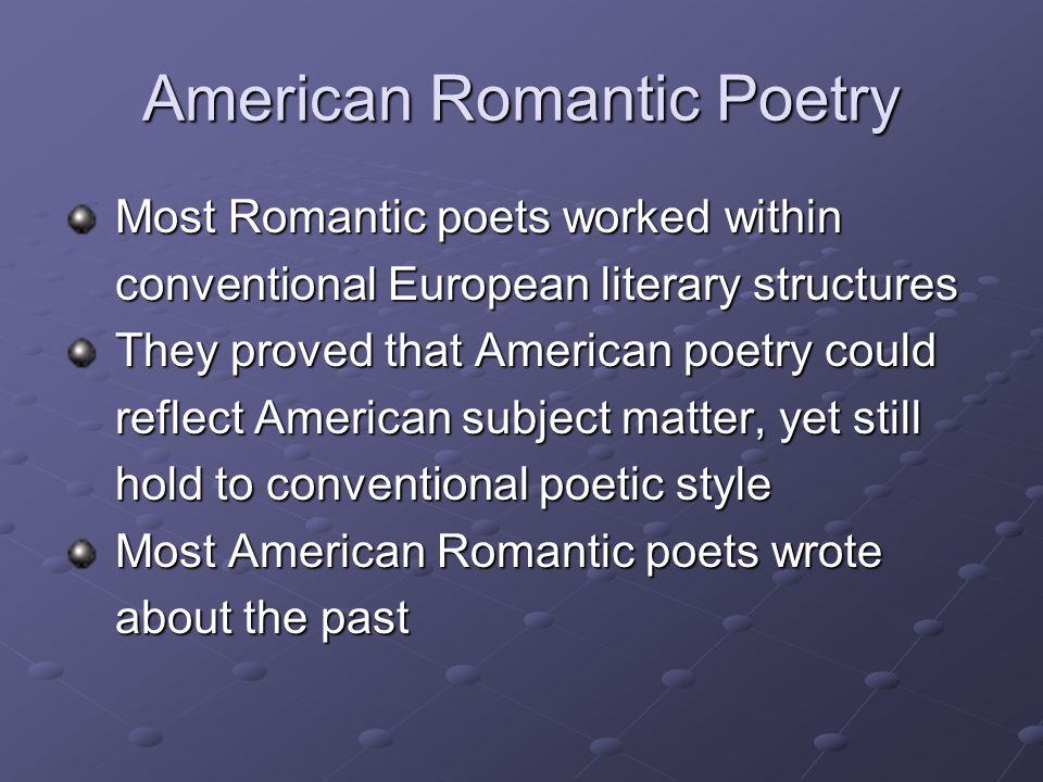American Romantic Poetry