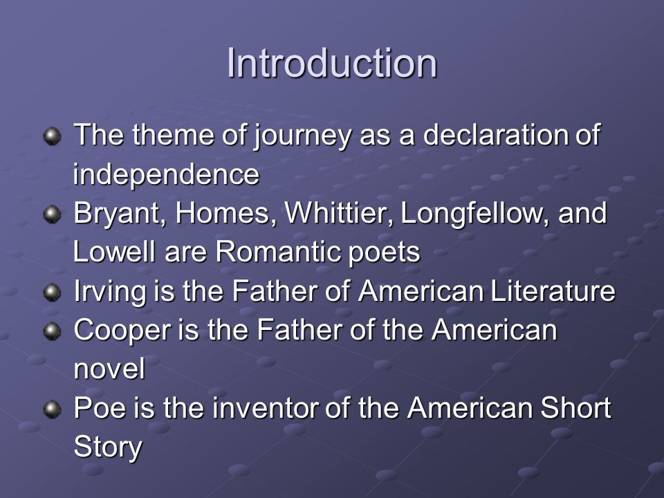 The Novel: An Introduction