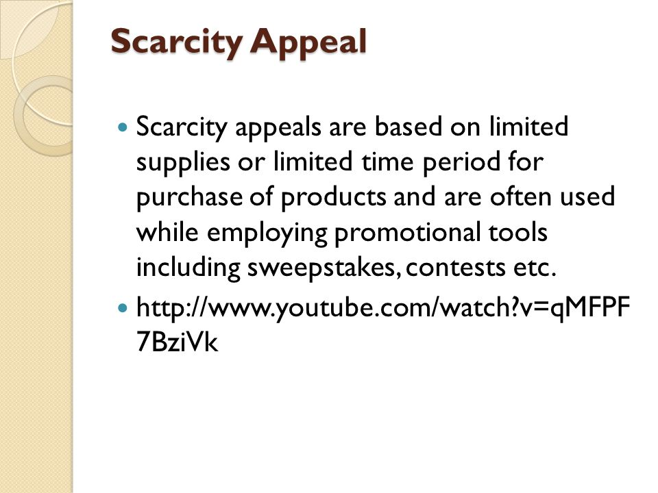 Scarcity Appeal
