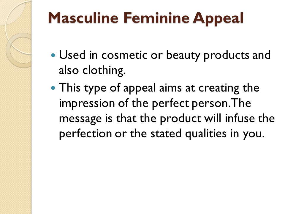 Masculine Feminine Appeal