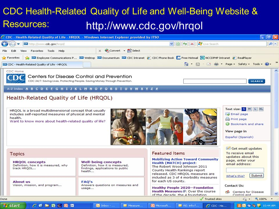 CDC Health-Related Quality of Life and Well-Being Website & Resources: