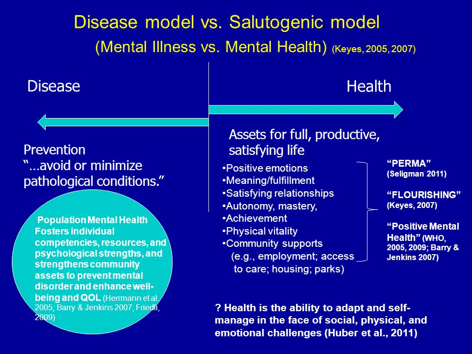 Disease model vs. Salutogenic model