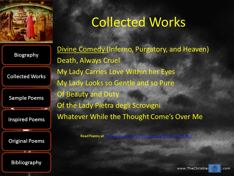 Collected Works Divine Comedy (Inferno, Purgatory, and Heaven)