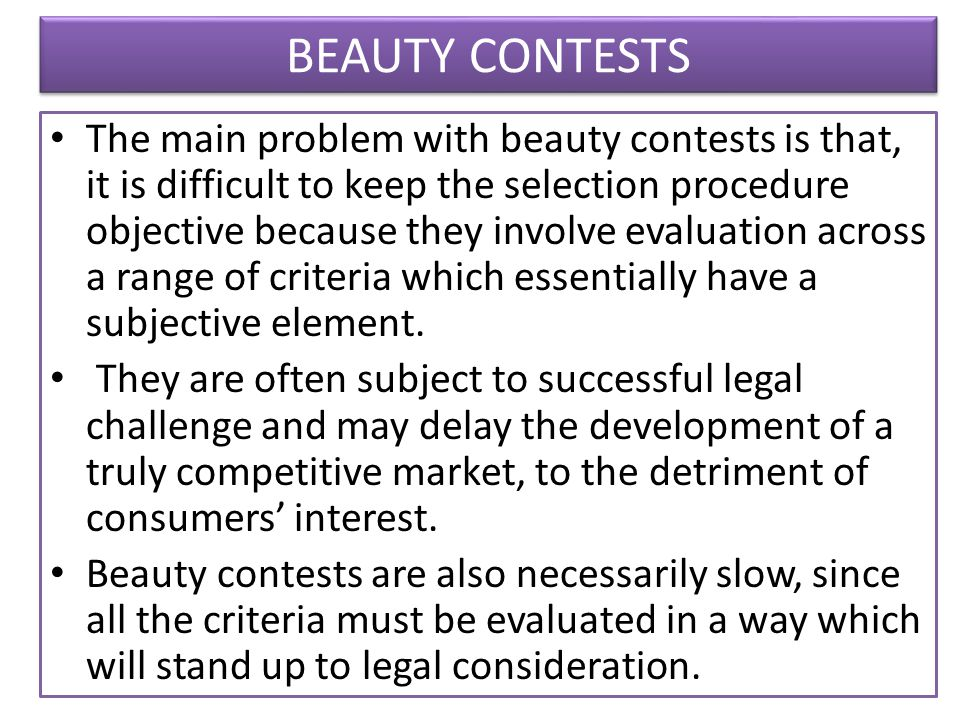 BEAUTY CONTESTS