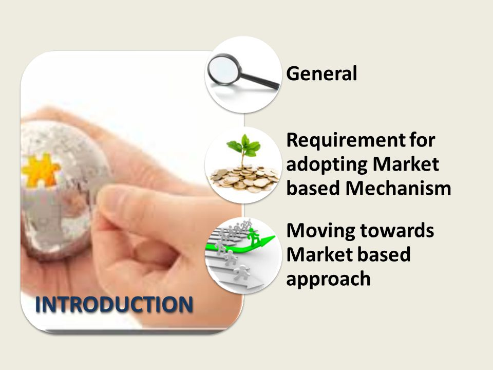 INTRODUCTION General Requirement for adopting Market based Mechanism